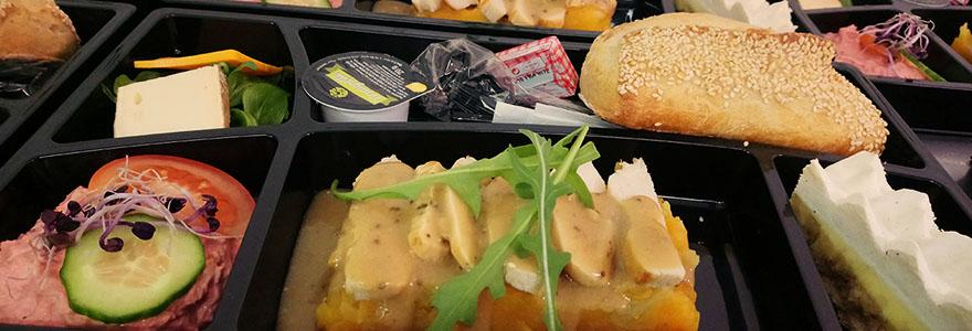 service de plateaux repas